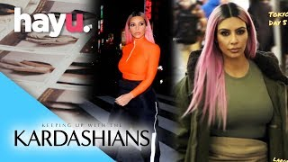 Kim Rocks Yeezy Season 7 In Japan | Season 15 | Keeping Up With The Kardashians
