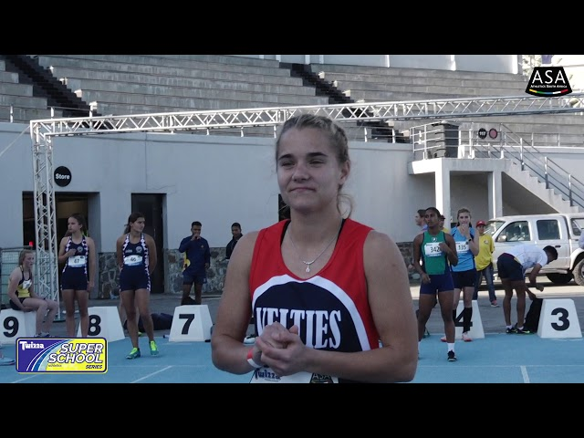 Final 1 Girls u16 100m - 2019 Twizza SuperSchoolSeries Greenpoint