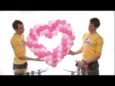 как сделать сердце по фото из шаров