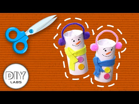 FROSTY the Snowman Paper Roll Craft | Fast-n-Easy | DIY Arts & Crafts for Parents