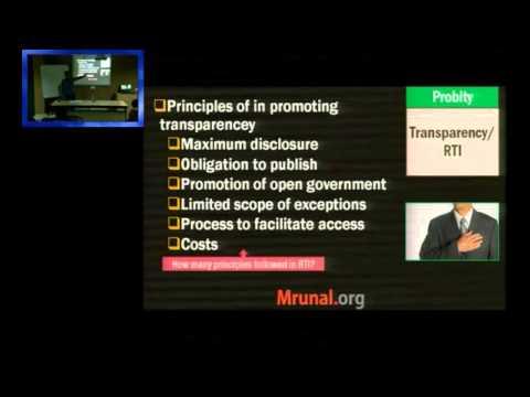 E7/P1: Ethics-Probity, Work Culture, Public fund utilization