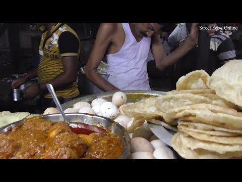 Parota with Egg & Veg Curry | Street Food Besides Madhyamgram Railway Station