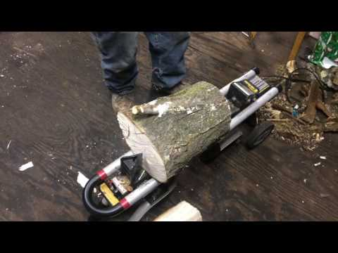 are electric log splitters  junk?  skip to end for huge red oak