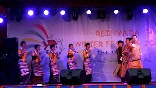 Red Panda Winter Festival 2016, Traditional Bhutia Dance, Gangtok, Sikkim