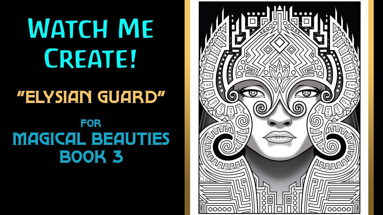 Timelapse Art Creation Elysian Guard For Magical Beauties Book 3 By Cristina McAllister