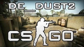 CS GO (gameplay competitive) no commentary! de_dust 2.