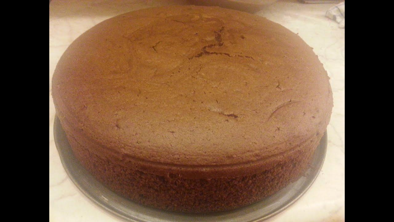 шоколадный шифоновый бисквит рецепт с фото