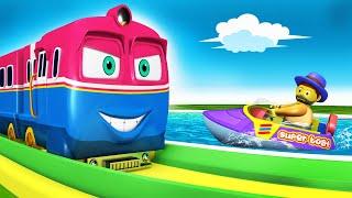 Trains for Kids | Toy Train Children Cartoon for Kids - Toy Factory kereta api  gadi wala cartoon