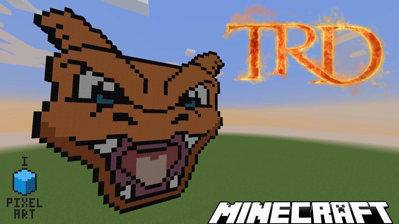 Minecraft Pixel Art Tête De Dracaufeu Par Trd Fr