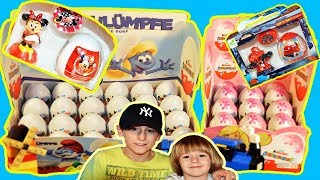Surprise Eggs kinder surprise frozen barbie dolls and minnie mouse huevos sorpresa