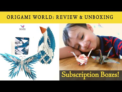 ORIGAMI WORLD: Review and Unboxing ||  Subscription Boxes!