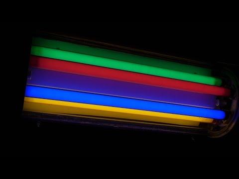 Kolorowe rury barwne - Colored fluorescent tubes