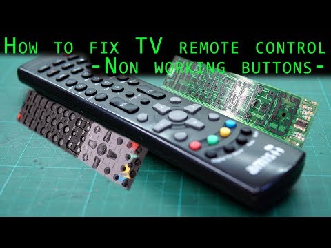 How to repair tv remote control [non working buttons] diy 10 min fix