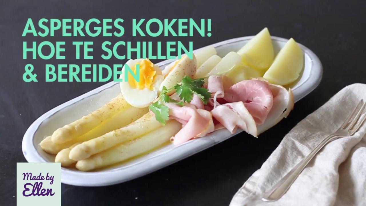 asperges koken schillen