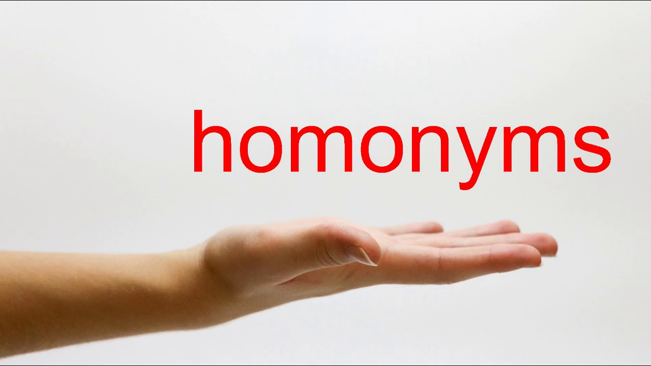 How to Pronounce homonyms - American English - YouTube