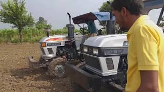 DEMO EICHER 650 VS 548 eicher ट्रैक्टर.ROTAVATOR में पीपीली खेड़ा गांव में