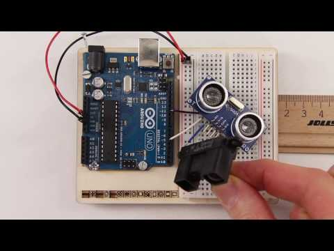 hc sr04 ultraschall sensor entfernung messen mit arduino youtube. Black Bedroom Furniture Sets. Home Design Ideas