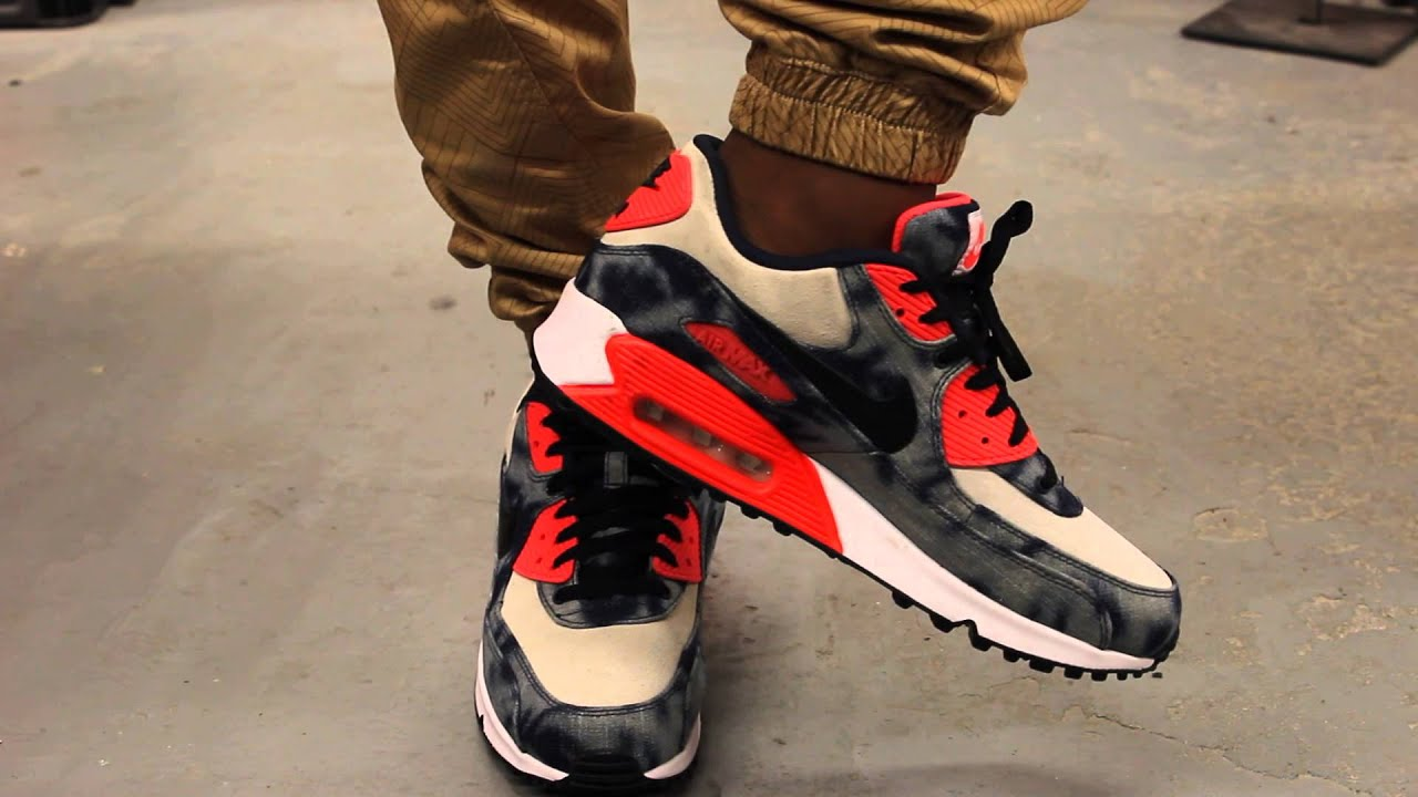 1f5619065d ... where to buy nike air max 90 dnm qs infrared washed denim on feet video  at