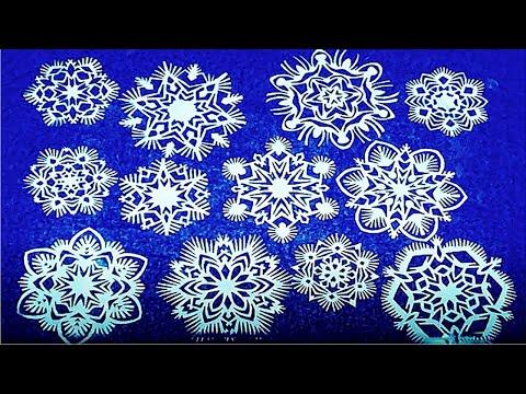 Схемы снежинки из бумаги своими руками на новый год схемы