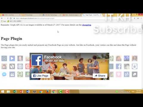 How to Add facebook page on website 2017 khmer
