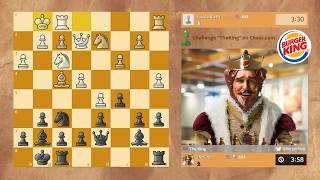 #PlayTheKing - Burger King Chess Challenge on Chess.com!