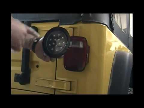 Jeep Wrangler TJ LED Flush Mount Running and Brake Tail Lights