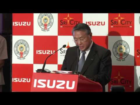 Sri City - Isuzu Motors Sign Up in presence of Andhra CM