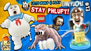 Lets Build & Play LEGO Dimensions #13: MARSHMALLOW FACES!  S