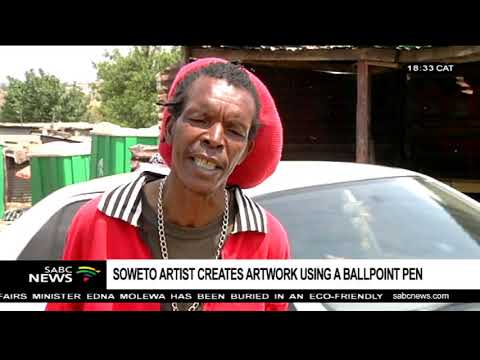 Soweto artist creates artwork through ball point pens