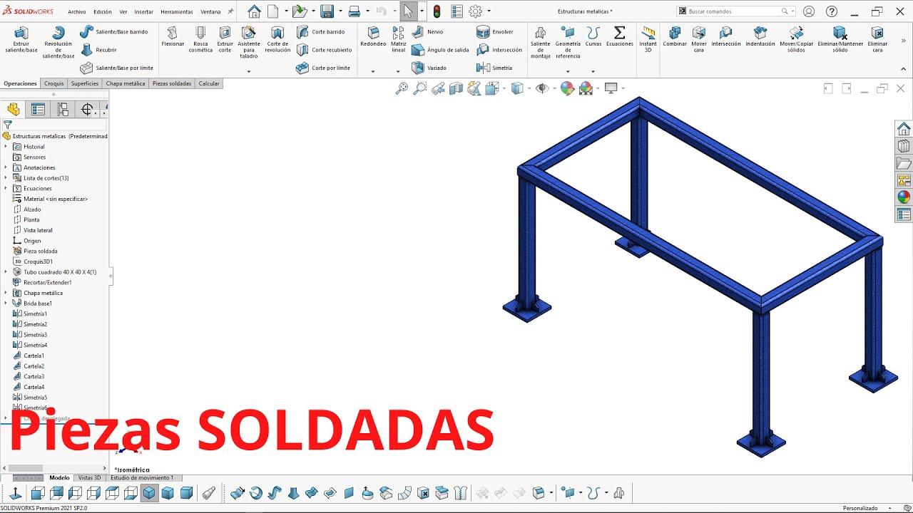 Tutorial Solidworks Como Diseñar Estructuras Metalicas