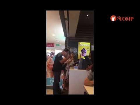 Man shouts at McDonald's employee at Hougang Mall