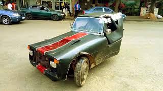 Funny sport Car invention in Kenya