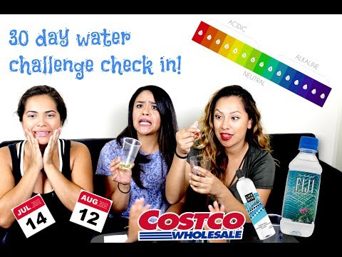 30 day water challenge + alkaline PH level reveal!