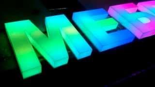 Объемные световые буквы магазина