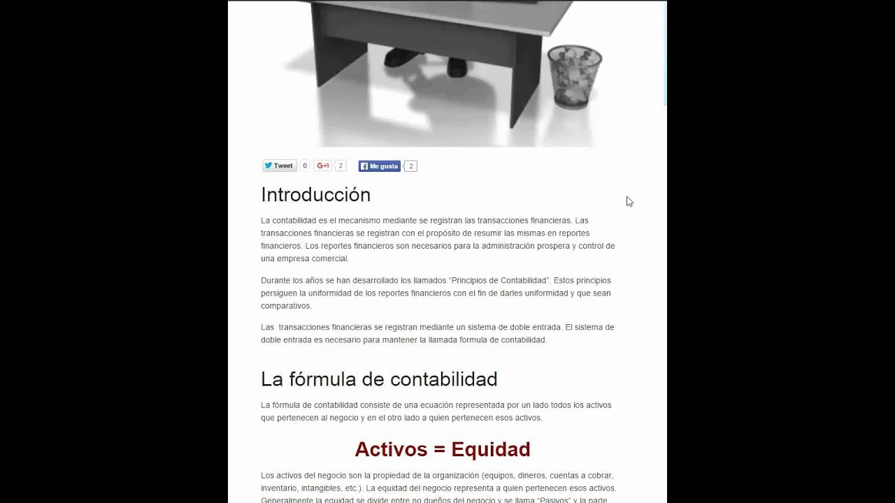 Principios de Contabilidad Parte 1 - YouTube