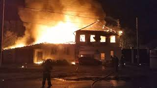 Ужасный пожар в автосервисе на Кима н. Новгород, 16.06.18