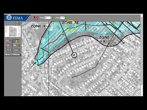 How to use the FEMA flood map search