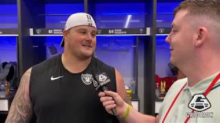 RICHIE INCOGNITO   OAK   SPEAKS TO US IN THE LOCKER ROOM AFTER BEATING CHICAGO BEARS 24-21 IN LONDON