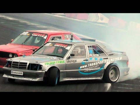 Mercedes W201 190E swap 5.5AMG V8 EPIC DRIFTS   Kajetan Rutyna