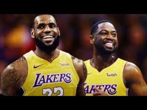 best cheap 5d59c 5e972 Lebron RECRUITING Dwyane Wade to Lakers!!