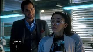 Lucifer 3x12 Luci Cleans up Chloe's Desk -  Ella Practices Yelling Season 3 Episode 12 S03E12