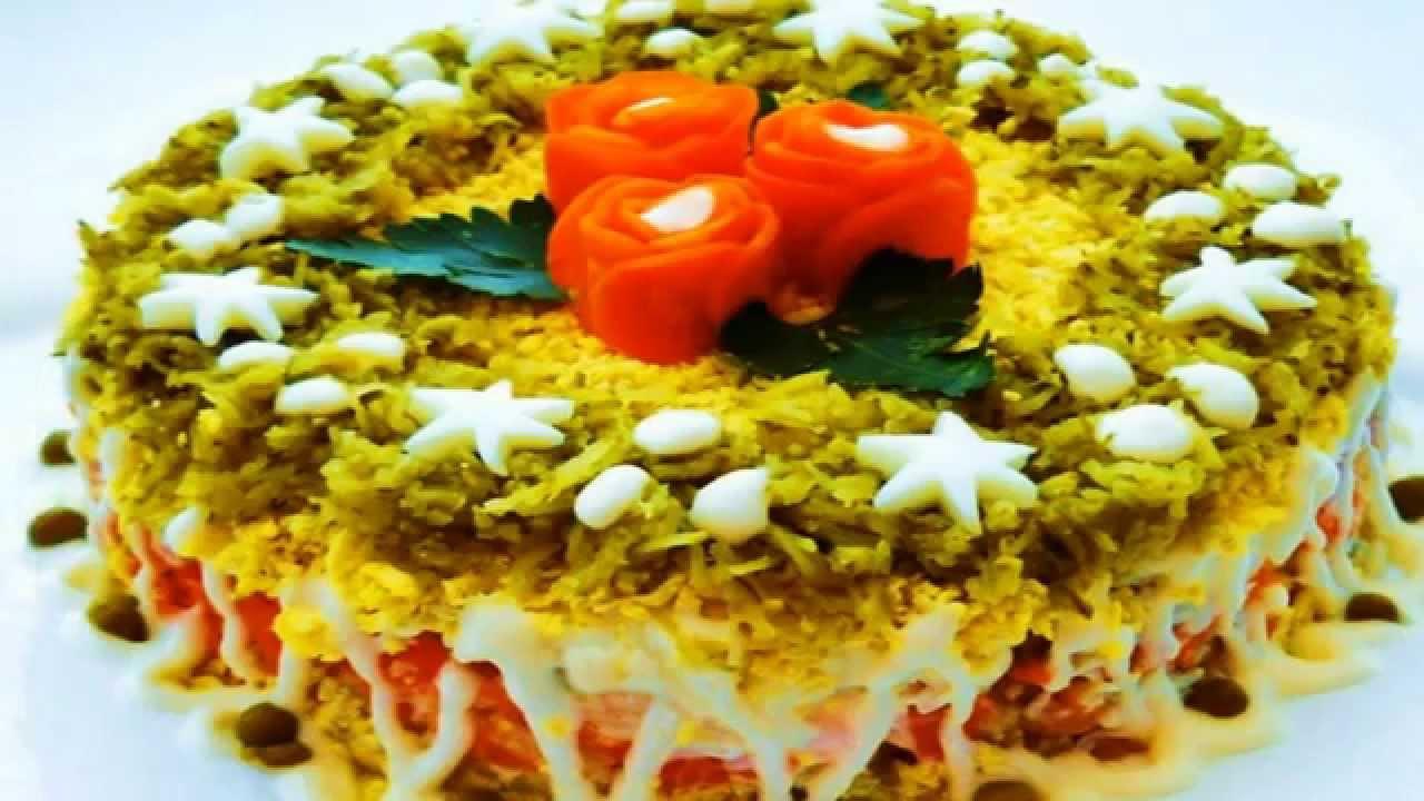 Украшение праздничные салаты и 70