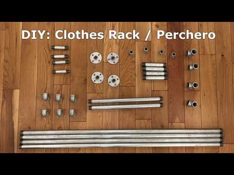 Proyecto: DIY Clothes Rack/ Perchero