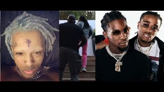 xxxtentacion explains what really happened w/ the migos and said he chased Takeoff + got stabbed. thumbnail