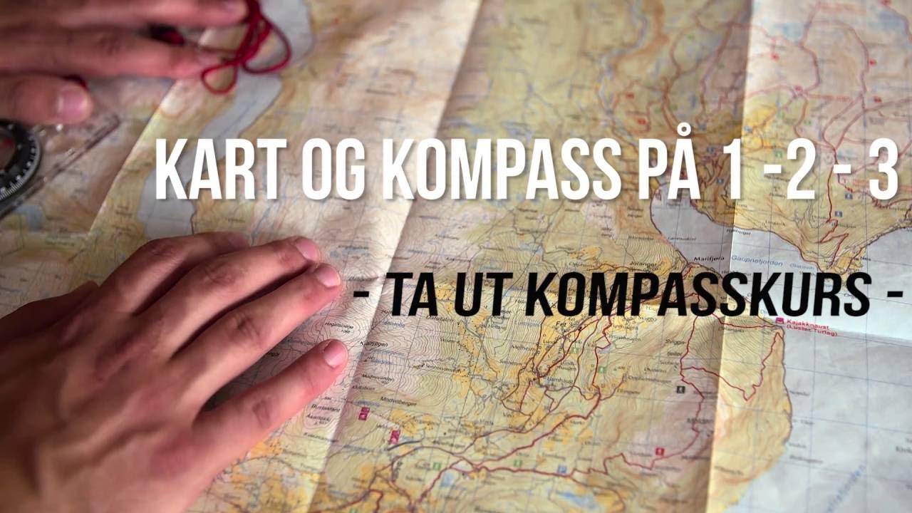 Hvordan Ta Ut Kompasskurs Kart Og Kompass Pa 1 2 3 Youtube