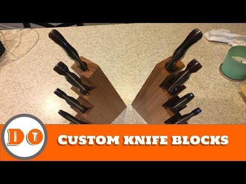 How to make a custom knife block