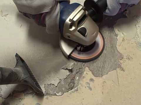 Angle Grinding Concrete Floors Youtube