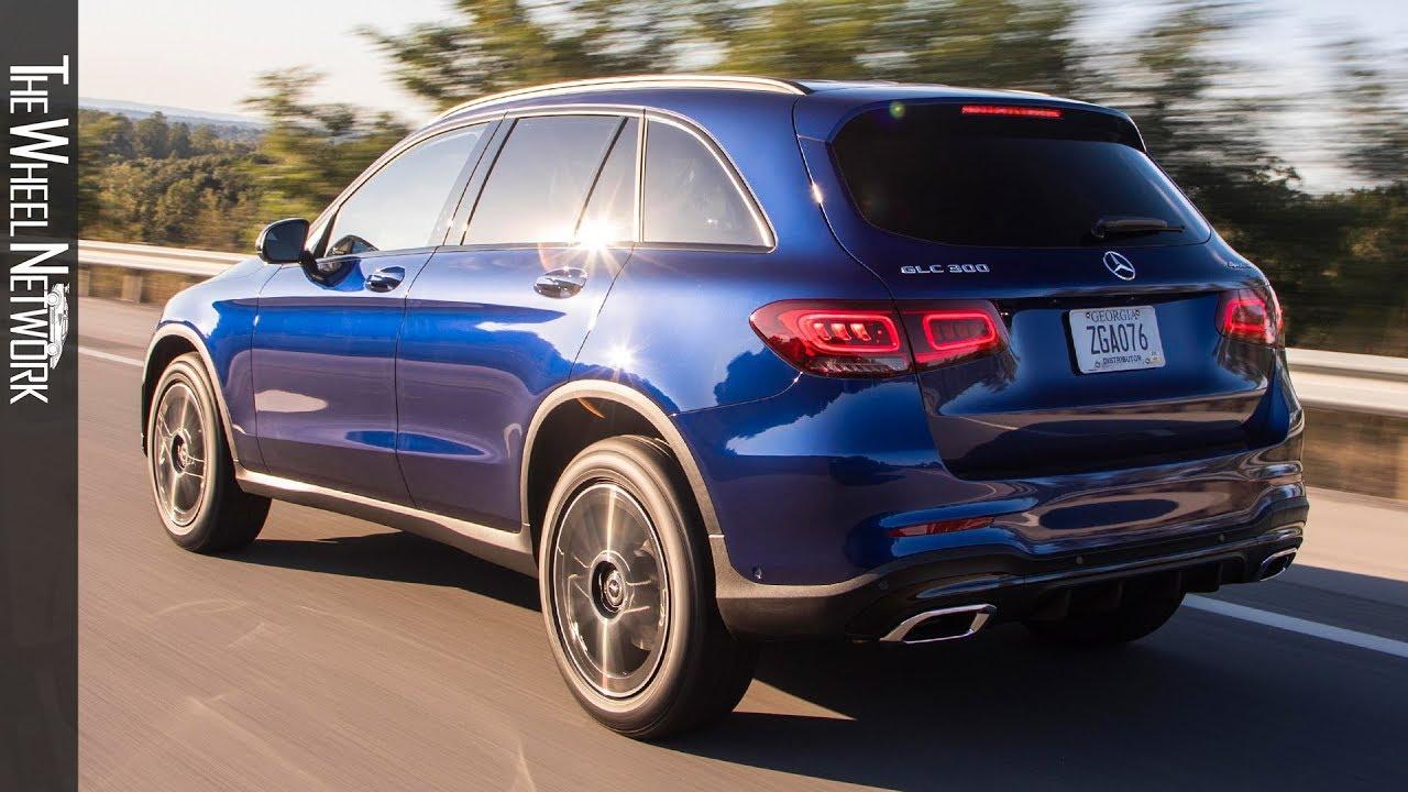 2020 Mercedes Benz Glc 300 4matic Brilliant Blue Metallic Driving Interior Exterior Us Spec Youtube