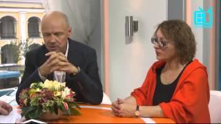Время встречать гостей. Катерина Майборода и Альгис Арлаускас.