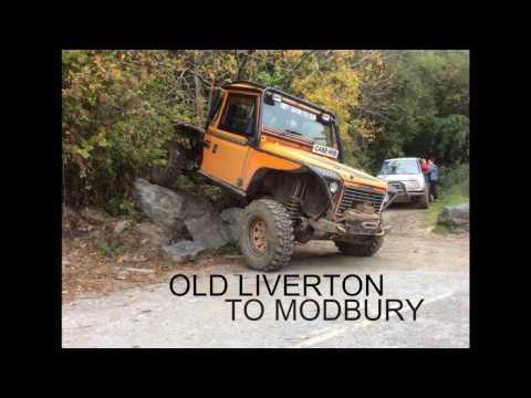 Old Liverton to Modbury, Green Laning in Devon. Landrover defender 300 tdi